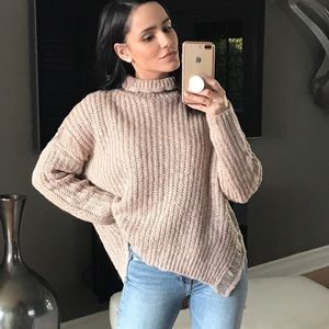 Sweaters - ROSIE Mock Neck Relaxed Sweater